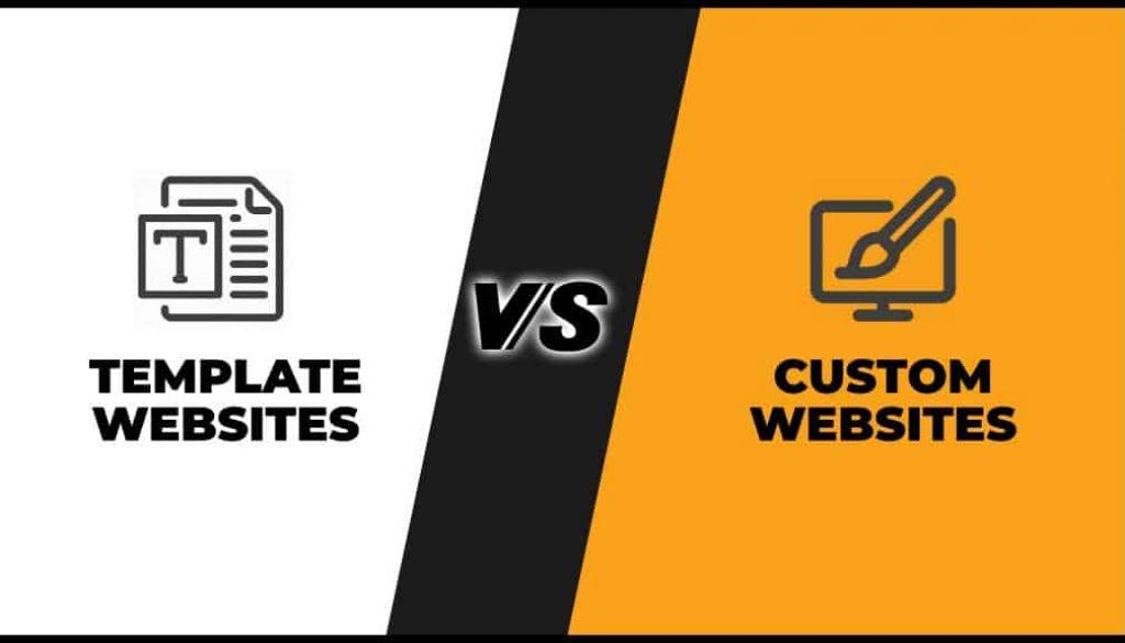 template and custom websites